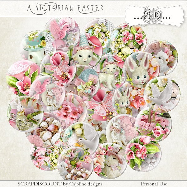 A victorian Easter - buttons