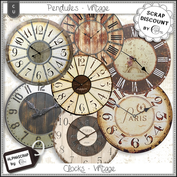 Wallclocks - Vintage 3